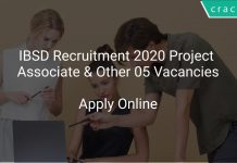 IBSD Recruitment 2020 Project Associate & Other 05 Vacancies