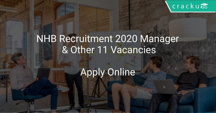 NHB Recruitment 2020 Manager & Other 11 Vacancies