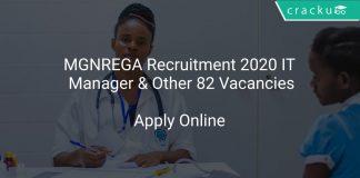 MGNREGA Recruitment 2020 IT Manager & Other 82 Vacancies