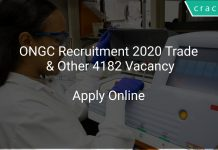 ONGC Recruitment 2020 Trade & Other 4182 Vacancy