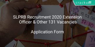 SLPRB Recruitment 2020 Extension Officer & Other 131 Vacancies