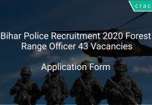 Bihar Police Recruitment 2020 Forest Range Officer 43 Vacancies