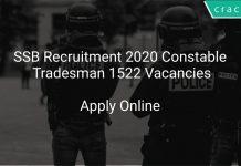 SSB Recruitment 2020 Constable Tradesman 1522 Vacancies