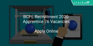 BCPL Recruitment 2020 Apprentice 76 Vacancies
