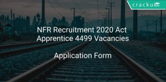 NFR Recruitment 2020 Act Apprentice 4499 Vacancies