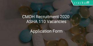 CMOH Recruitment 2020 ASHA 110 Vacancies