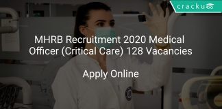 MHRB Recruitment 2020 Medical Officer (Critical Care) 128 Vacancies