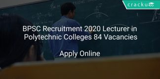 BPSC Recruitment 2020 Lecturer in Polytechnic Colleges 84 Vacancies