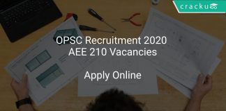 OPSC Recruitment 2020 AEE 210 Vacancies
