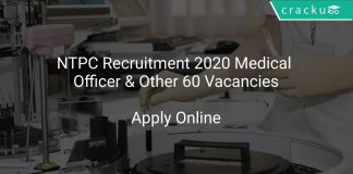 NTPC Recruitment 2020 Medical Officer & Other 60 Vacancies