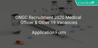 ONGC Recruitment 2020 Medical Officer & Other 19 Vacancies