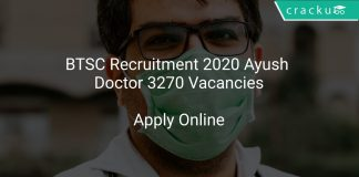 BTSC Recruitment 2020 Ayush Doctor 3270 Vacancies