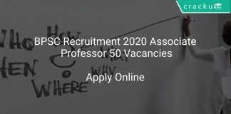 BPSC Recruitment 2020 Associate Professor 50 Vacancies
