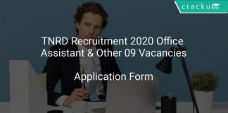 TNRD Recruitment 2020 Office Assistant & Other 09 Vacancies