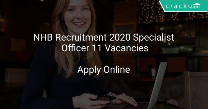 NHB Recruitment 2020 Specialist Officer 11 Vacancies