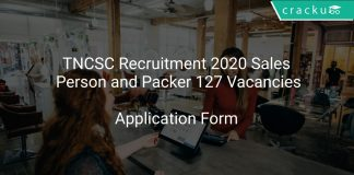 TNCSC Recruitment 2020 Sales Person and Packer 127 Vacancies