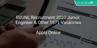 RVUNL Recruitment 2020 Junior Engineer & Other 1571 Vacancies
