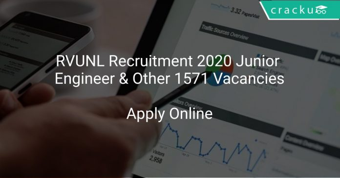 RVUNL Recruitment 2020 Junior Engineer & Other 1571 Vacancies