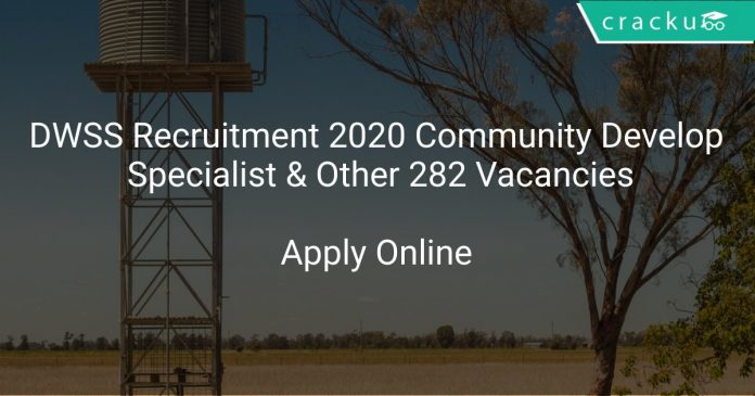 DWSS Recruitment 2020 Community Development Specialist & Other 282 Vacancies