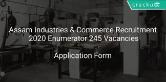 Assam Industries & Commerce Recruitment 2020 Enumerator 245 Vacancies