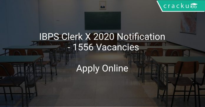 IBPS Clerk X 2020 Notification - 1556 Vacancies