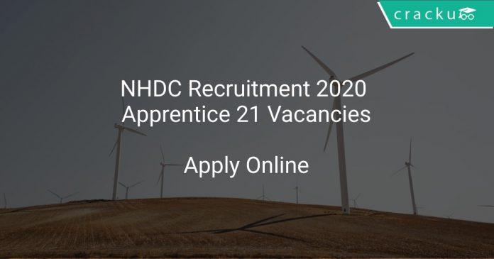 NHDC Recruitment 2020 Apprentice 21 Vacancies