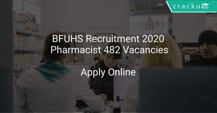 BFUHS Recruitment 2020 Pharmacist 482 Vacancies