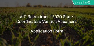 AIC Recruitment 2020 State Coordinators Various Vacancies