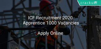 ICF Recruitment 2020 Apprentice 1000 Vacancies