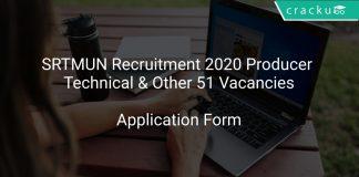 SRTMUN Recruitment 2020 Producer Technical & Other 51 Vacancies