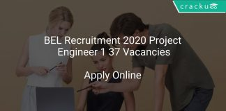 BEL Recruitment 2020 Project Engineer 1 37 Vacancies