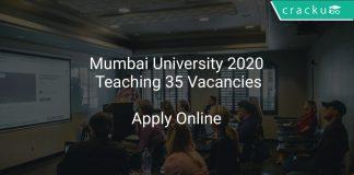 Mumbai University 2020 Teaching 35 Vacancies