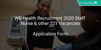 WB Health Recruitment 2020 Staff Nurse & other 221 Vacancies