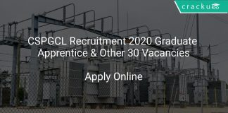 CSPGCL Recruitment 2020 Graduate Apprentice & Other 30 Vacancies