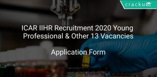 ICAR IIHR Recruitment 2020 Young Professional & Other 13 Vacancies