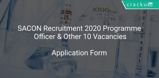 SACON Recruitment 2020 Programme Officer & Other 10 Vacancies