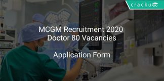 MCGM Recruitment 2020 Doctor 80 Vacancies