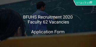 BFUHS Recruitment 2020 Faculty 62 Vacancies