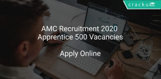 AMC Recruitment 2020 Apprentice 500 Vacancies