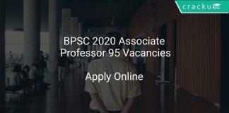 BPSC 2020 Associate Professor 95 Vacancies