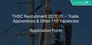 THDC Recruitment 2020 ITI – Trade Apprentices & Other 110 Vacancies