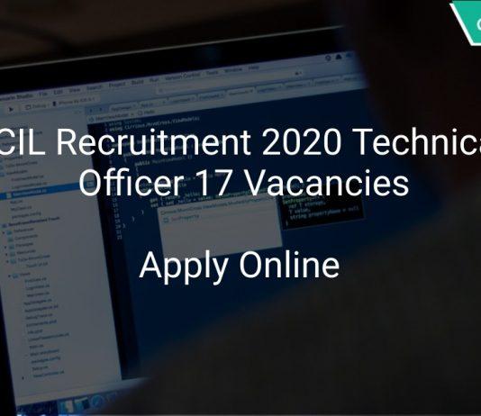 ECIL Recruitment 2020 Technical Officer 17 Vacancies