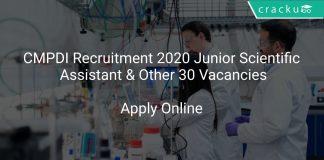CMPDI Recruitment 2020 Junior Scientific Assistant & Other 30 Vacancies