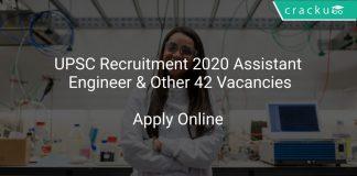 UPSC Recruitment 2020 Assistant Engineer & Other 42 Vacancies