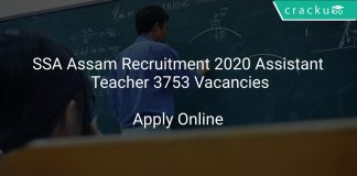 SSA Assam Recruitment 2020 Assistant Teacher 3753 Vacancies