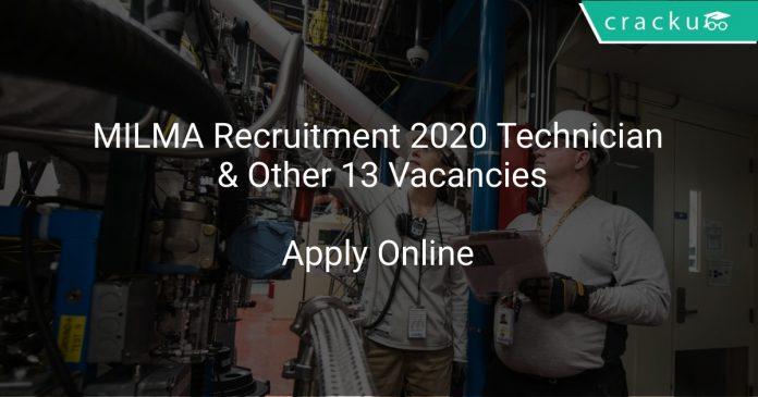 MILMA Recruitment 2020 Technician & Other 13 Vacancies