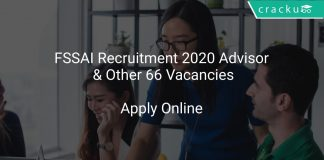 FSSAI Recruitment 2020 Advisor & Other 66 Vacancies