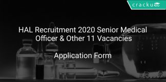 HAL Recruitment 2020 Senior Medical Officer & Other 11 Vacancies