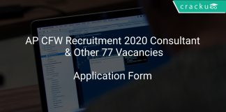 AP CFW Recruitment 2020 Consultant & Other 77 Vacancies