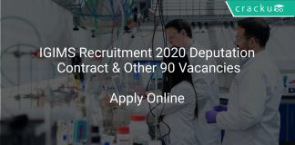 IGIMS Recruitment 2020 Deputation Contract & Other 90 Vacancies